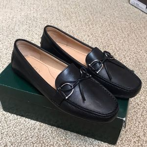NEW Ralph Lauren Moccasin Loafer 100% Leather Blk